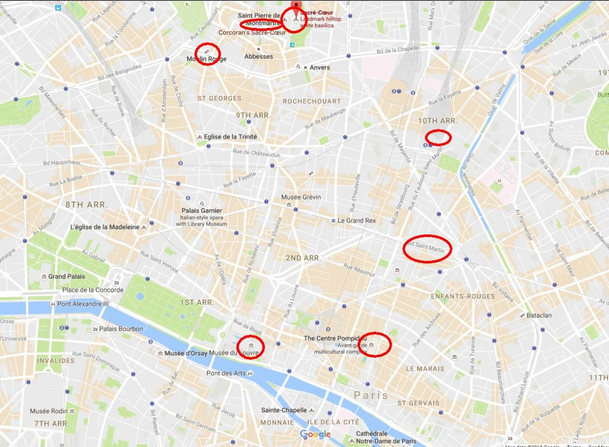 Europe 2016 Trip Day 3 – Paris pics